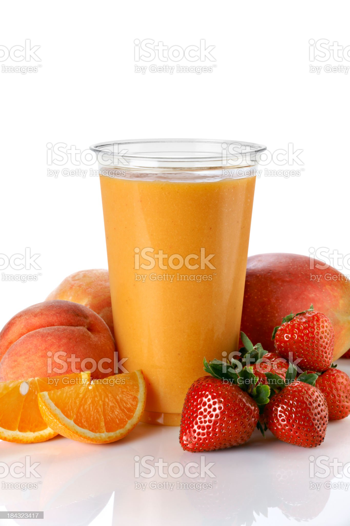 Fruit Smoothie with mango and peach royalty-free stock photo