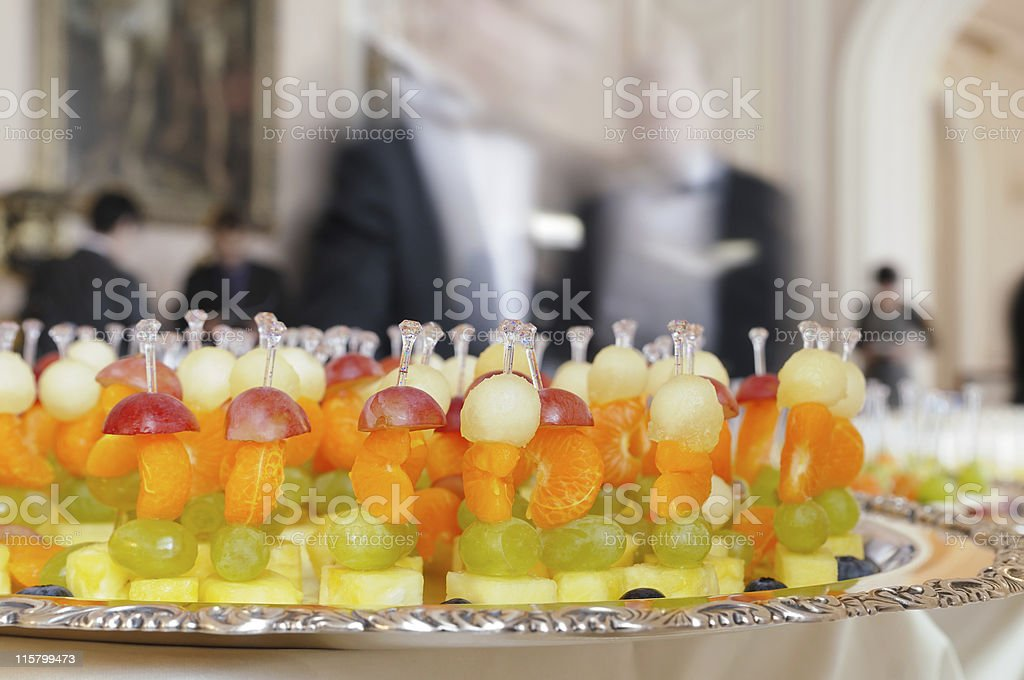 Fruit snack on a tray. royalty-free stock photo