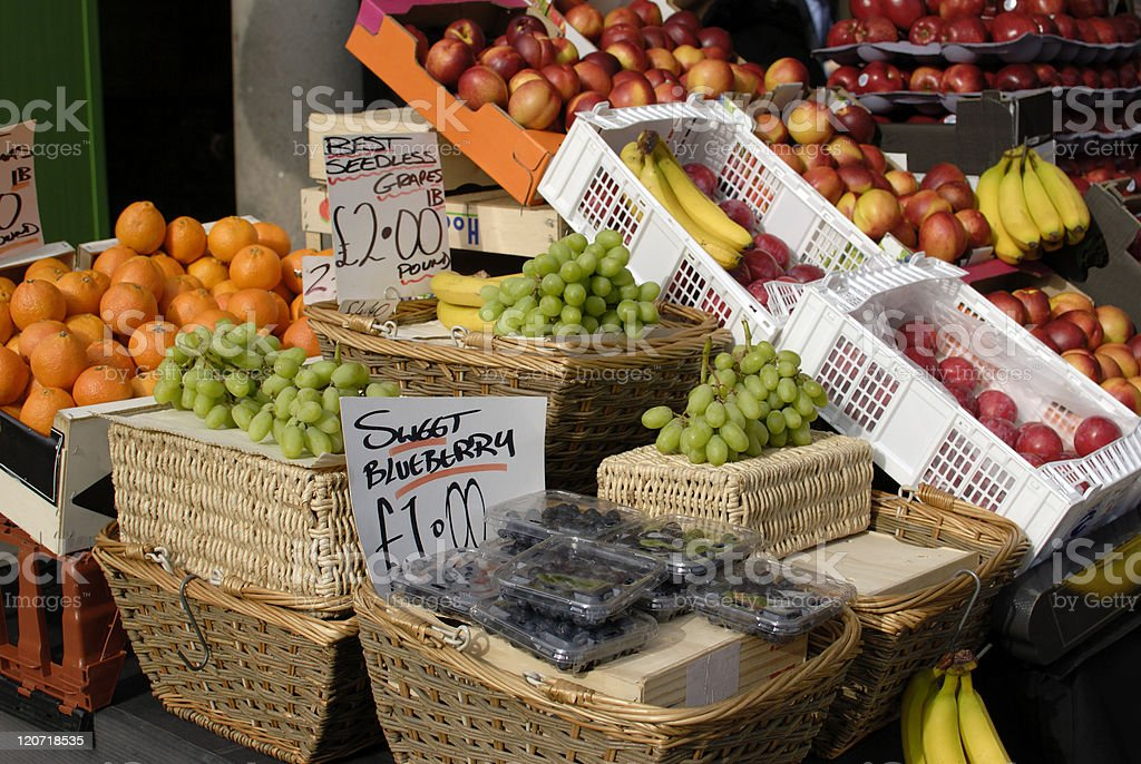 Fruit stall in Covent Garden. London. England royalty-free stock photo