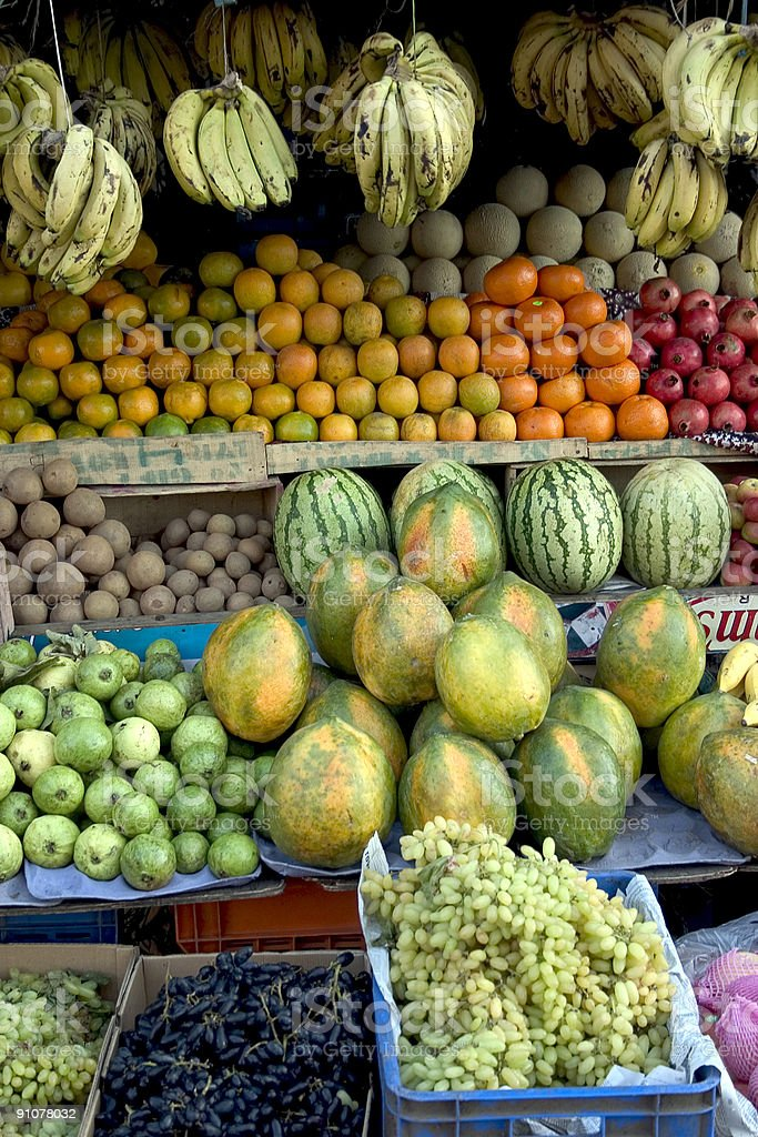 Fruit Stall in India royalty-free stock photo