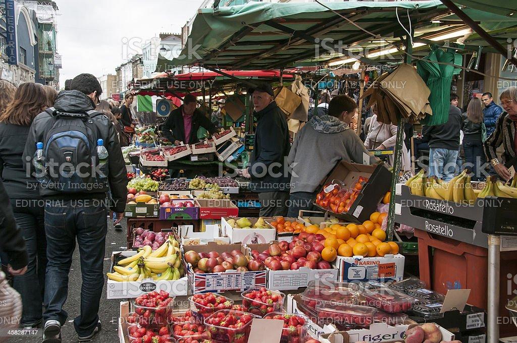 Fruit stall in Portobello stock photo