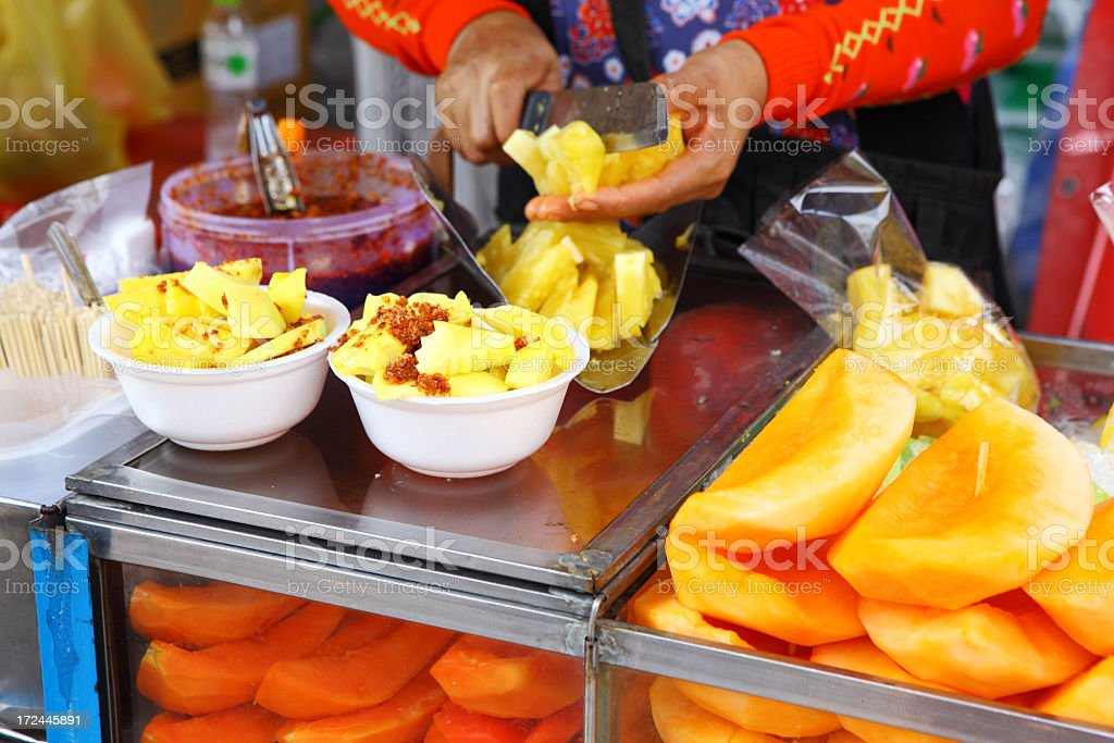 Fruit stall in Thailand royalty-free stock photo