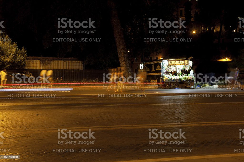 fruit stand at night royalty-free stock photo