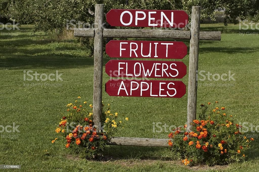 Fruit Stand Sign royalty-free stock photo