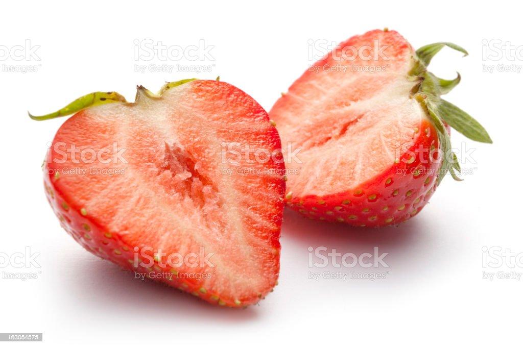 Fruit: Strawberry Isolated on White Background royalty-free stock photo