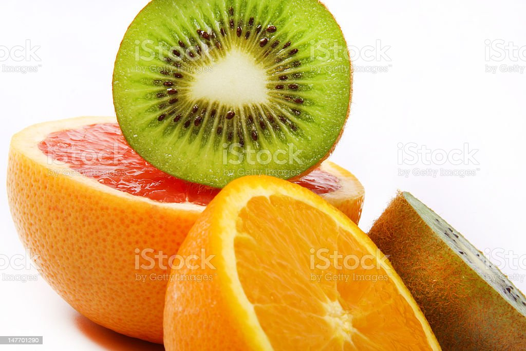 fruit table stock photo