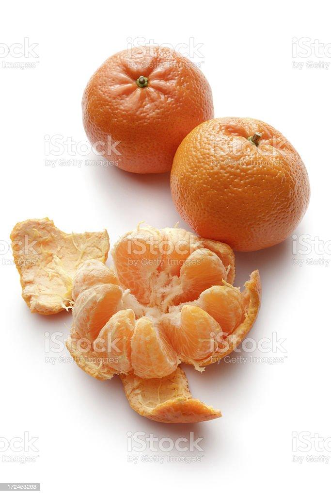 Fruit: Tangerine Isolated on White Background royalty-free stock photo