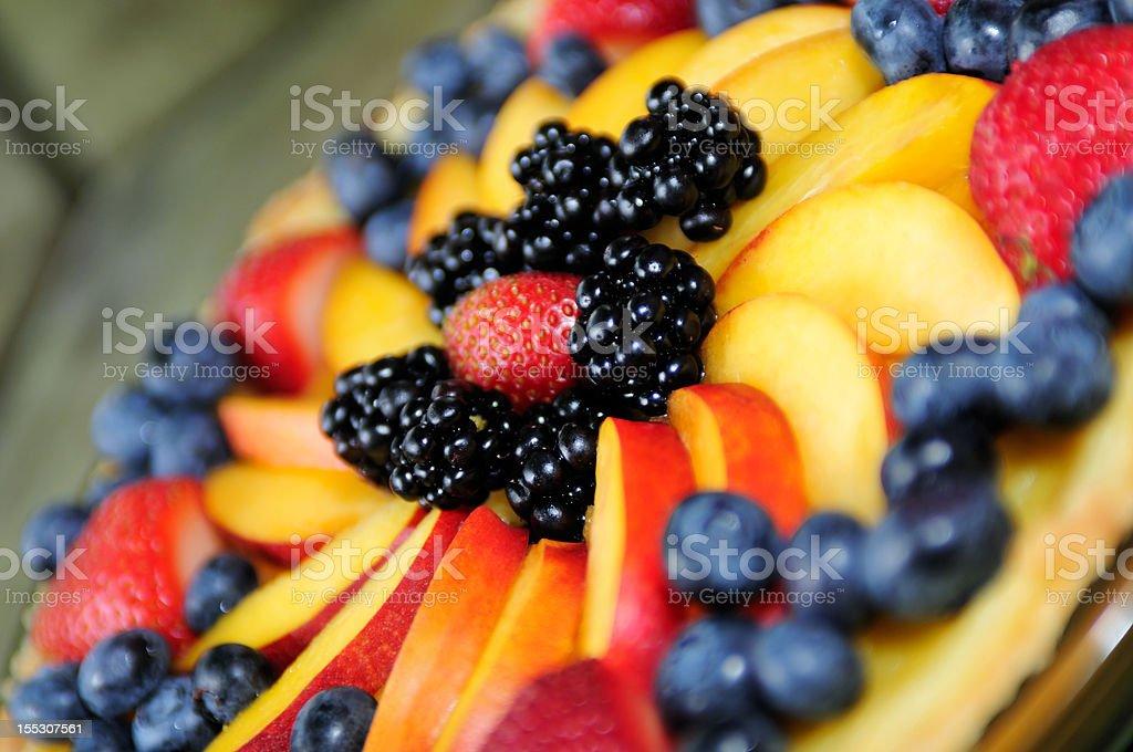 Fruit Tart Background stock photo