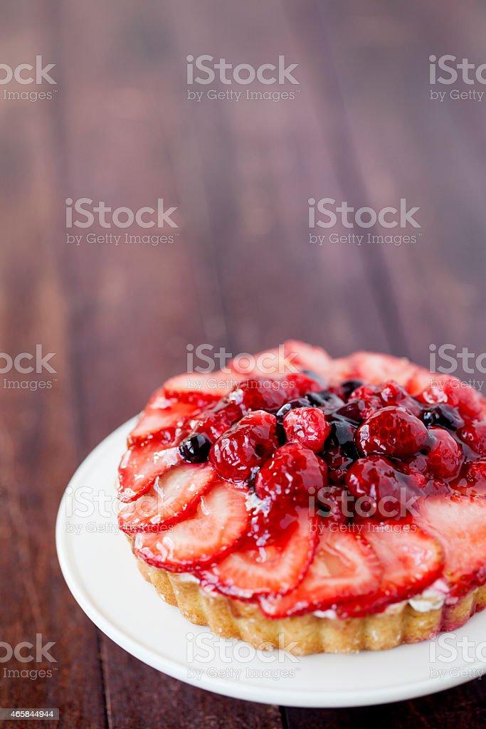 fruit tart stock photo