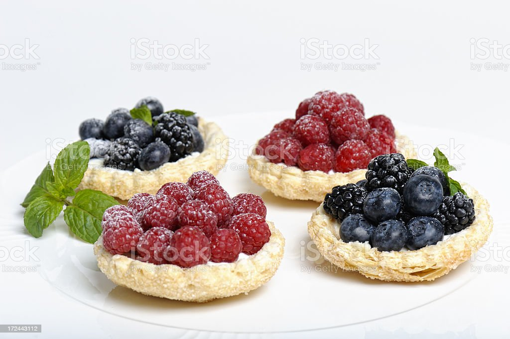 Fruit Tartlets stock photo