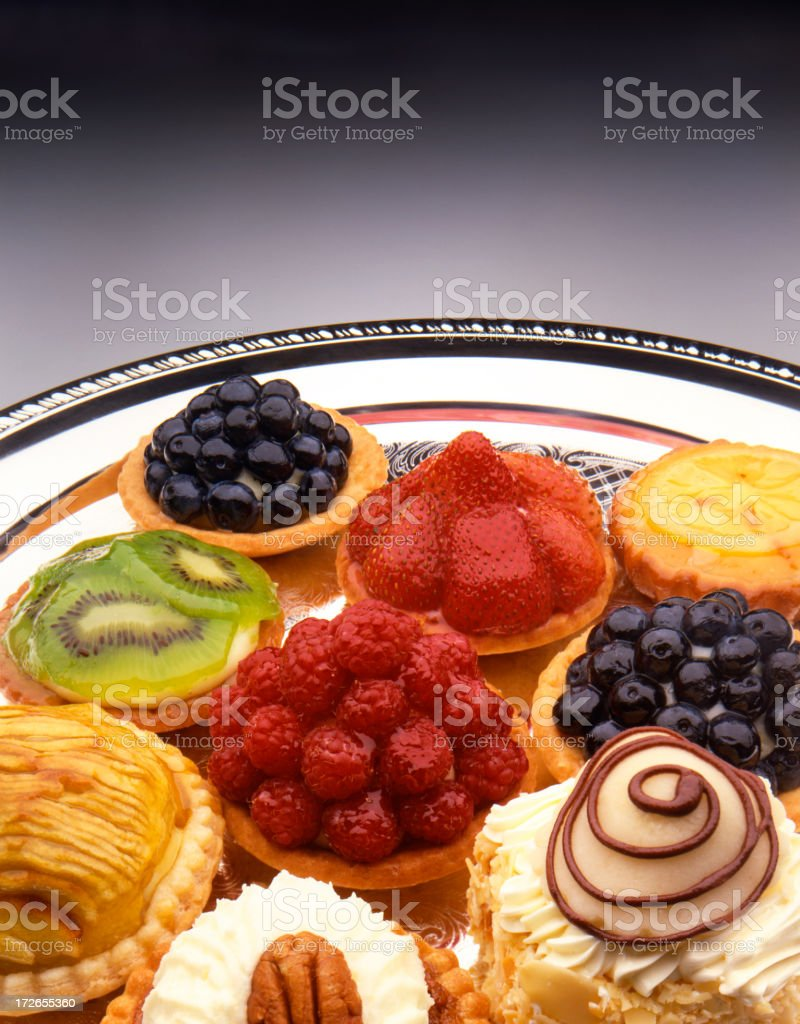 Fruit tarts royalty-free stock photo