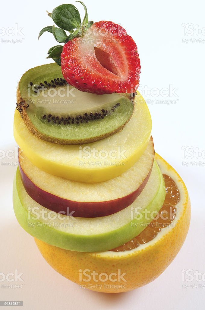 Fruit tower. royalty-free stock photo