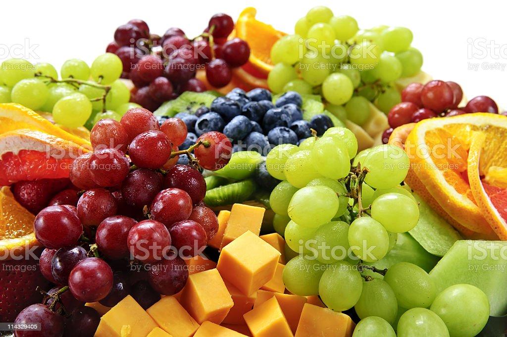 Fruit tray royalty-free stock photo