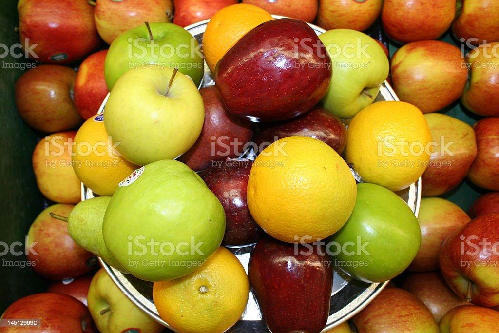 fruit tray stock photo
