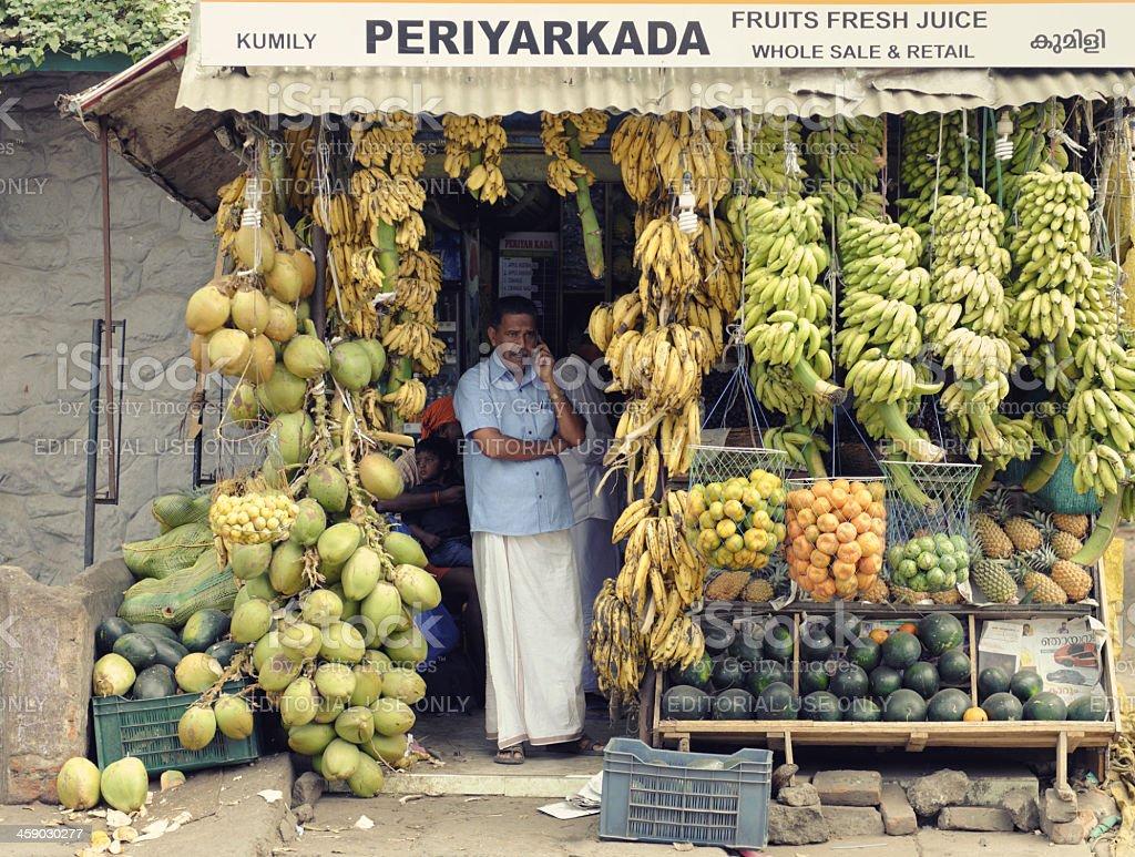 Fruit vendor royalty-free stock photo
