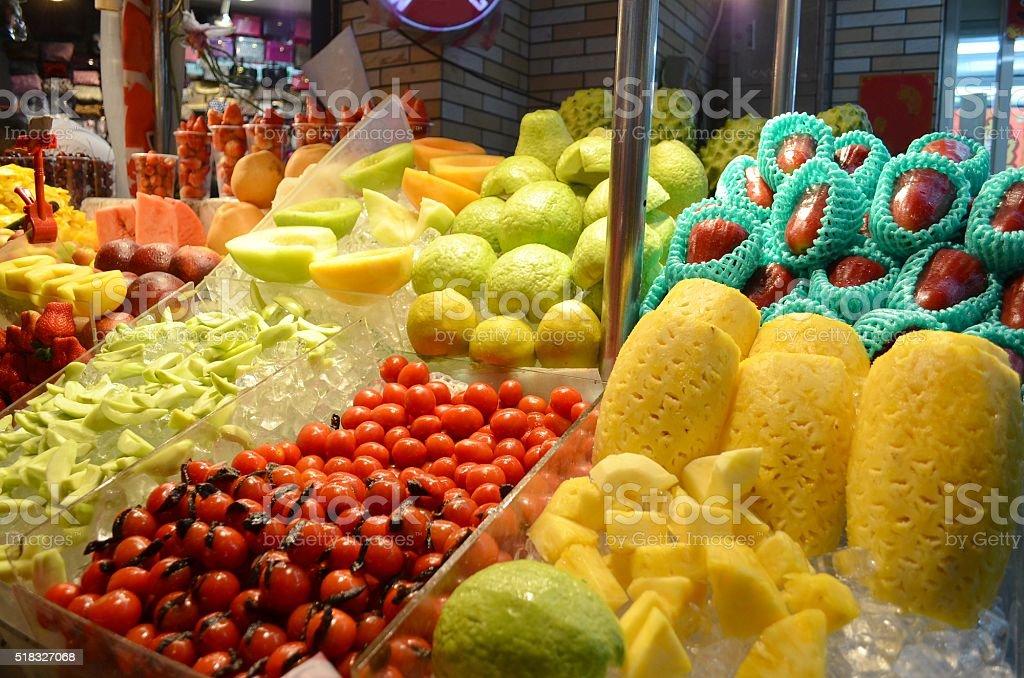Fruit vendor stock photo