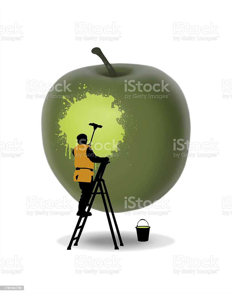 fruit washing royalty-free stock photo