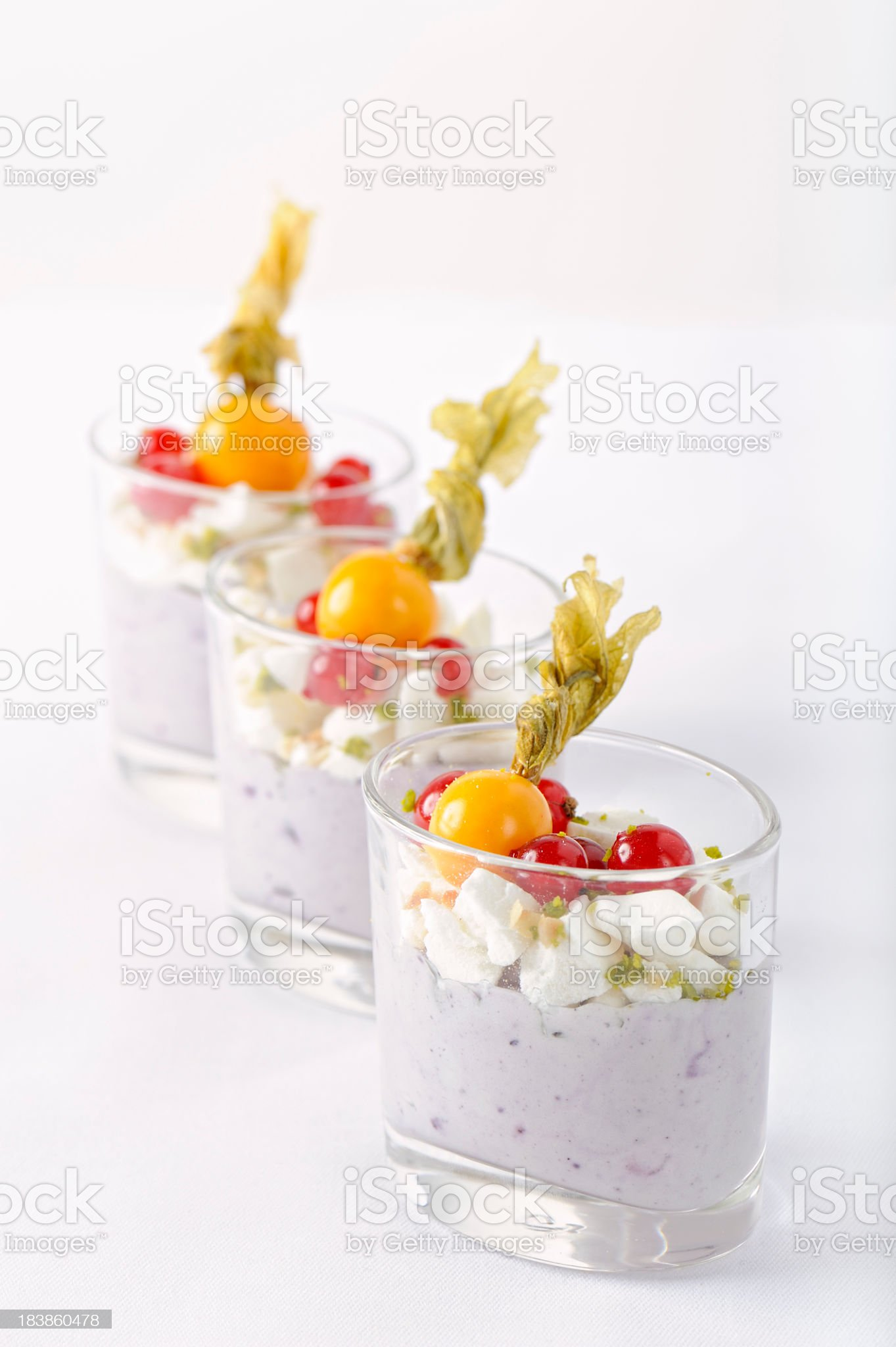 Fruit Yoghurt Cream royalty-free stock photo