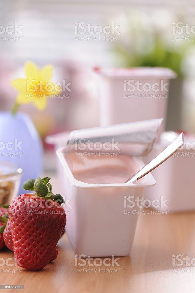 Fruit yogurt royalty-free stock photo
