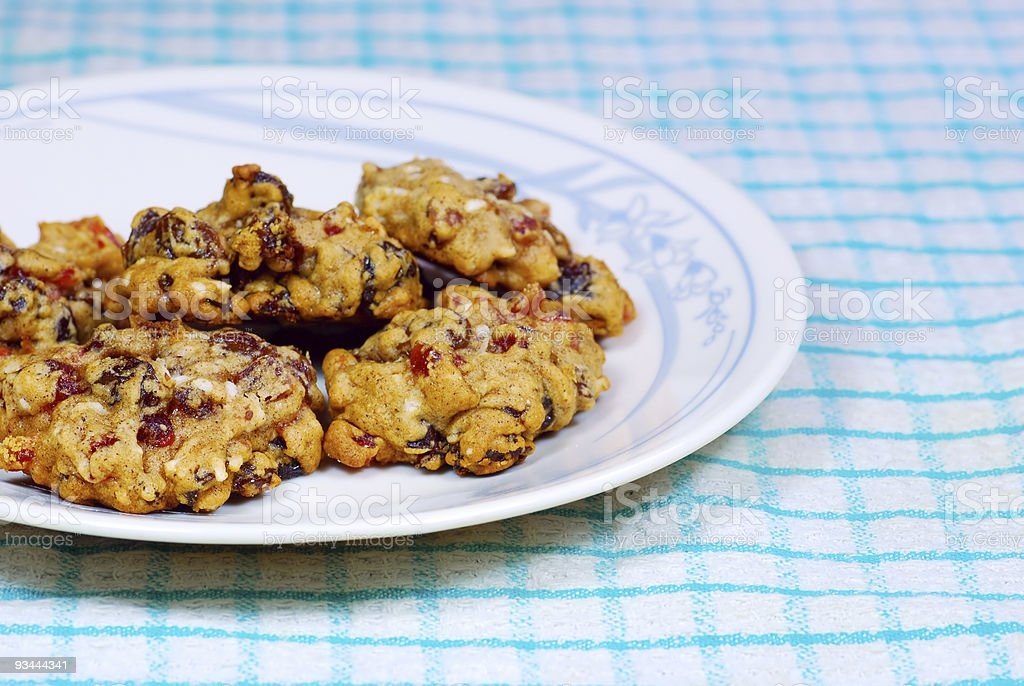 Fruitcake cookies stock photo