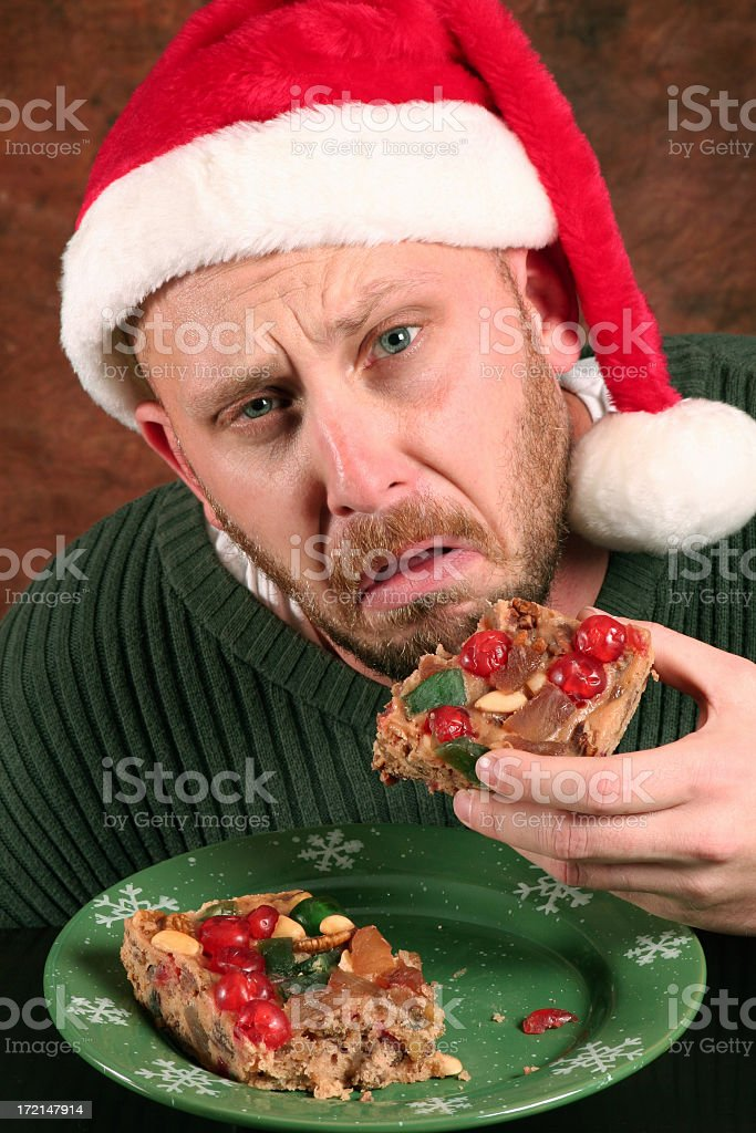 Fruitcake is Nasty stock photo