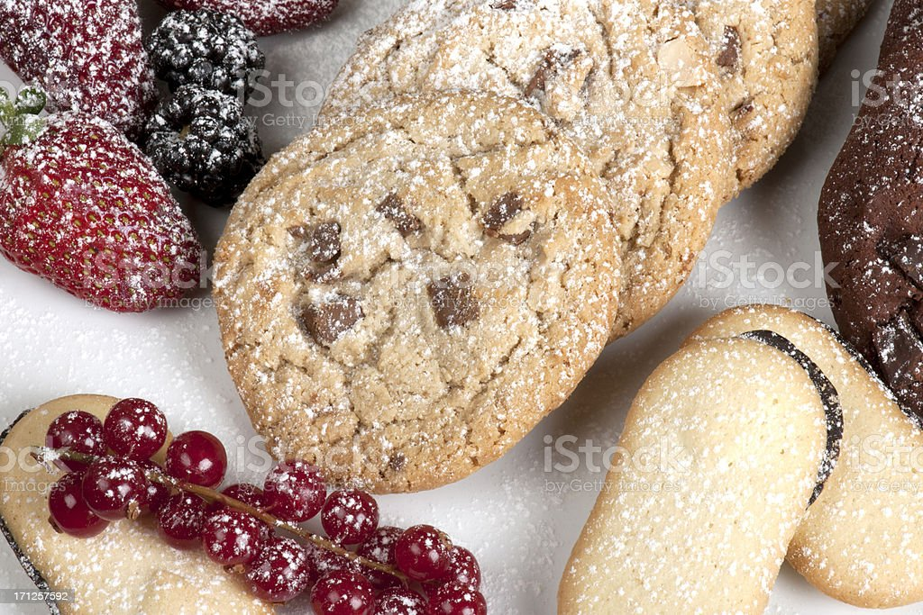 Fruits and Biscuits royalty-free stock photo