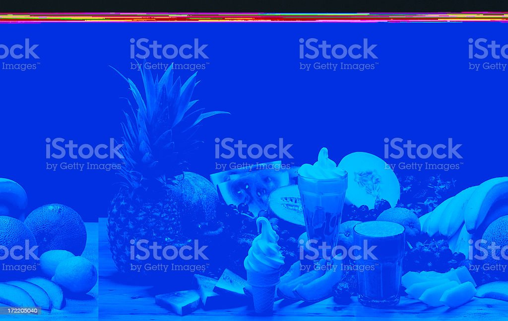Fruits and Desserts royalty-free stock photo