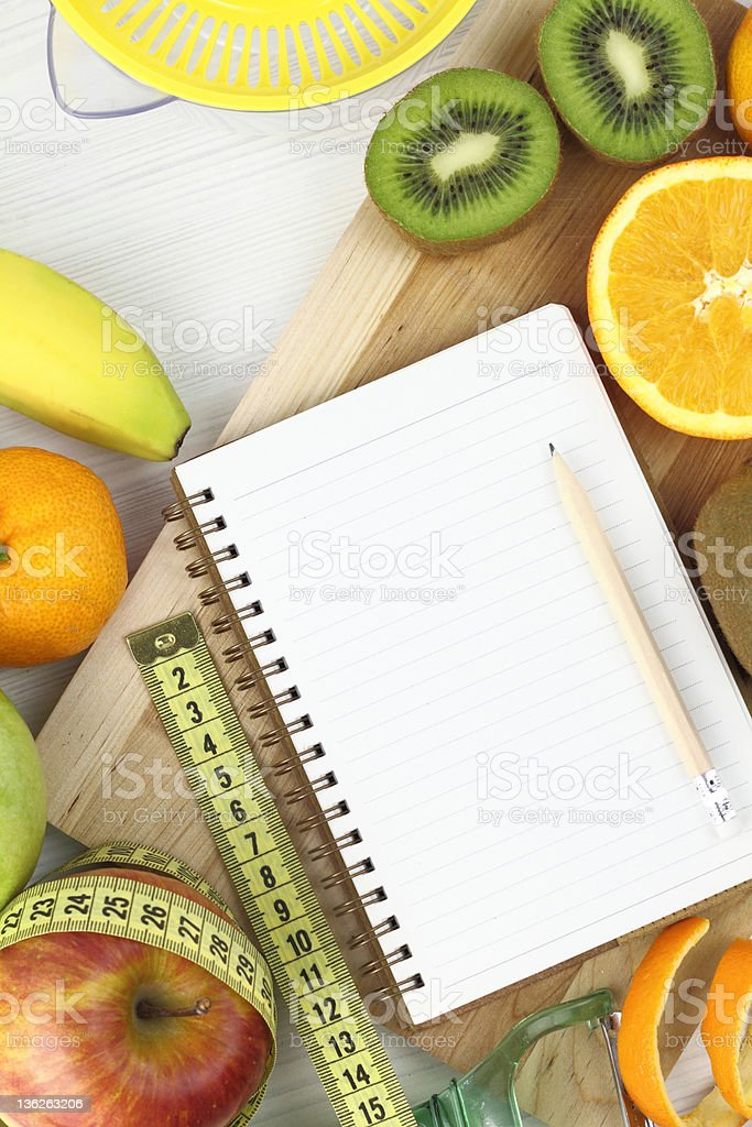 Fruits and diet stock photo