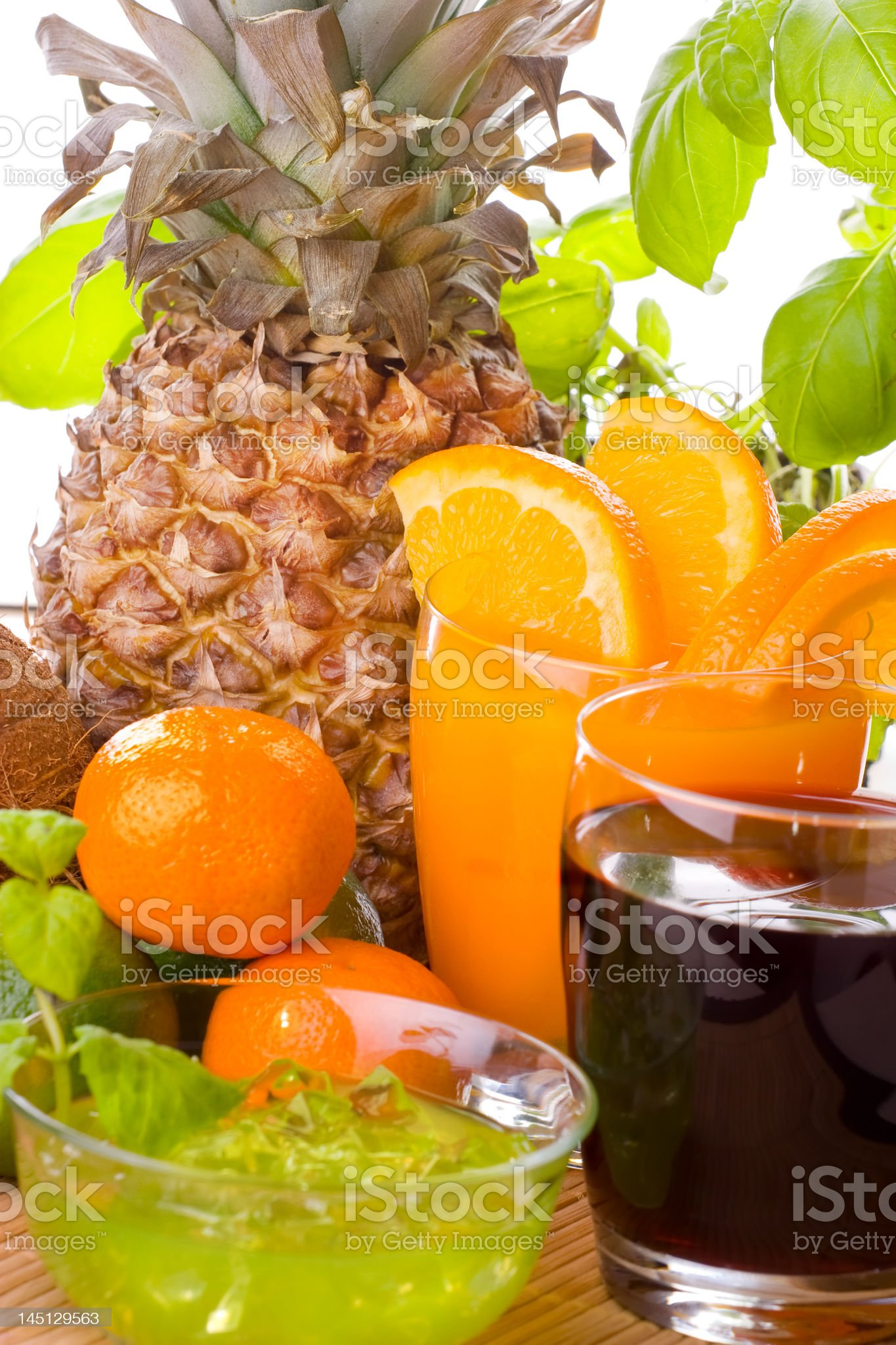 Fruits And Drinks royalty-free stock photo