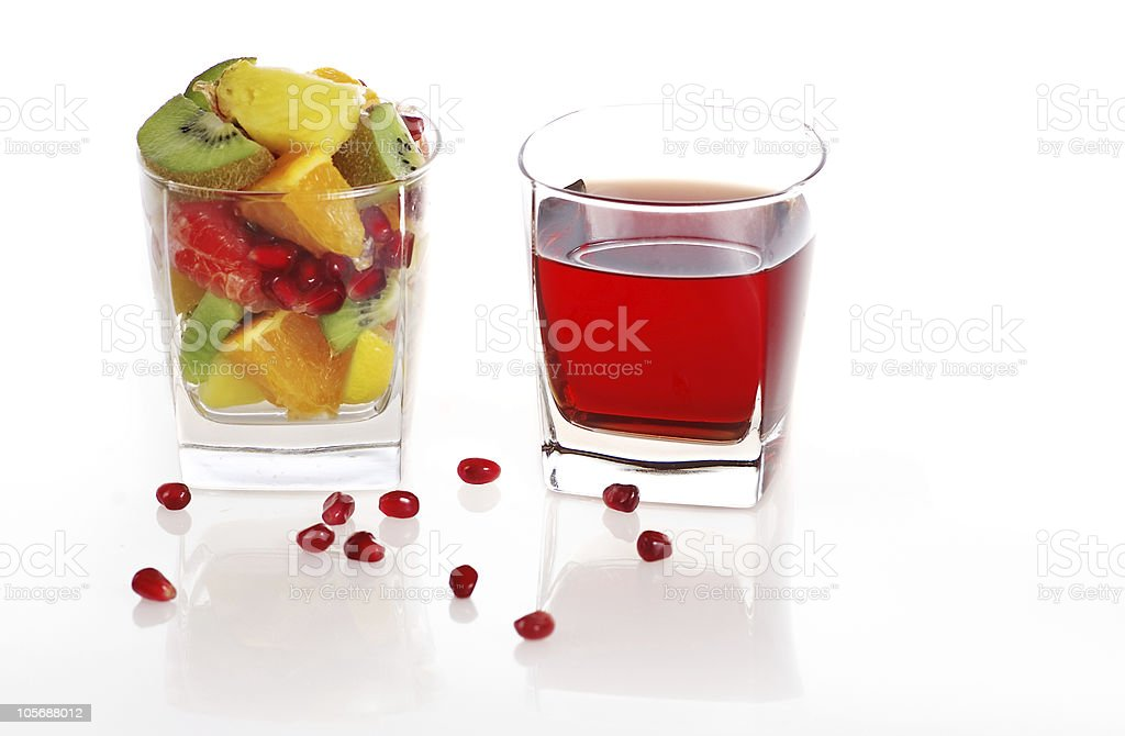 Fruits and juice royalty-free stock photo