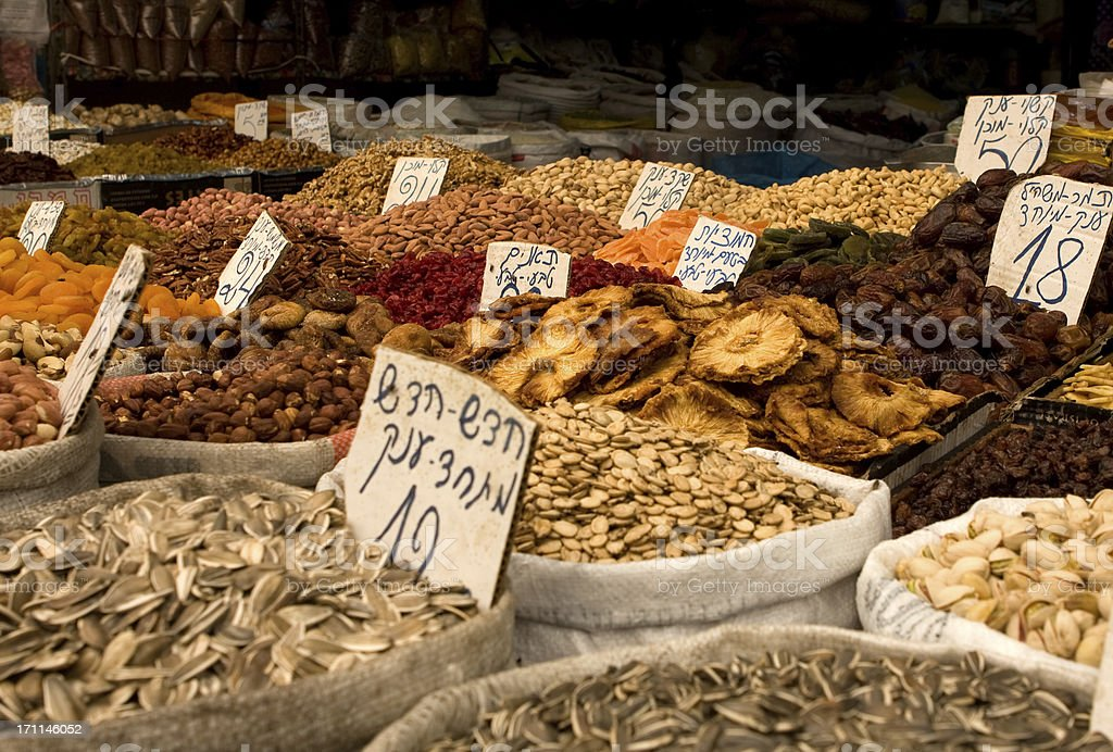 Fruits and Nuts at the Market royalty-free stock photo