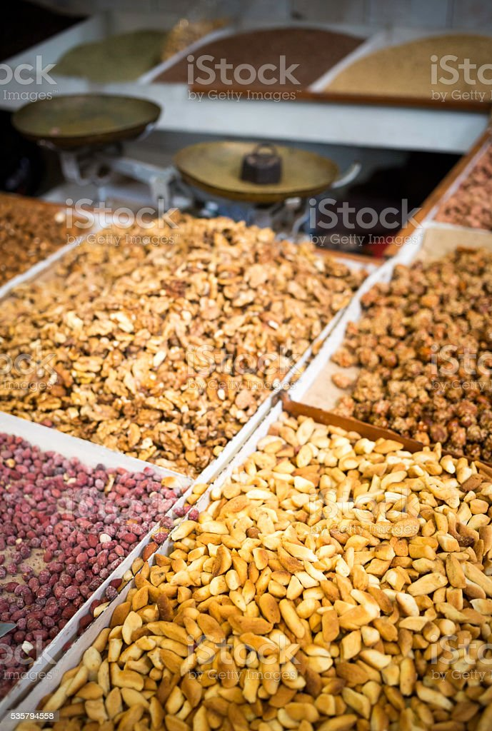 fruits and nuts stock photo