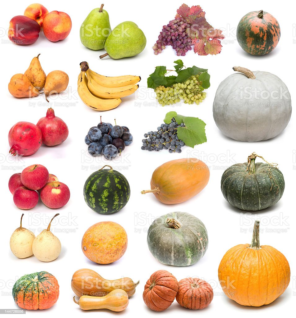 fruits and pumpkins royalty-free stock photo
