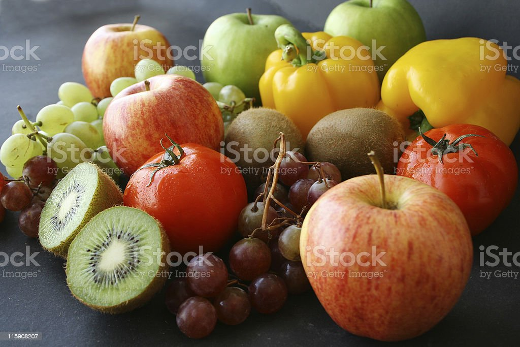 fruits and vegetable royalty-free stock photo
