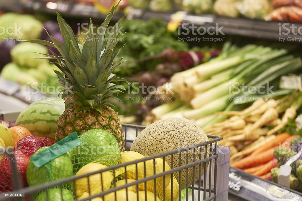 Fruits And Vegetables At The Supermarket royalty-free stock photo