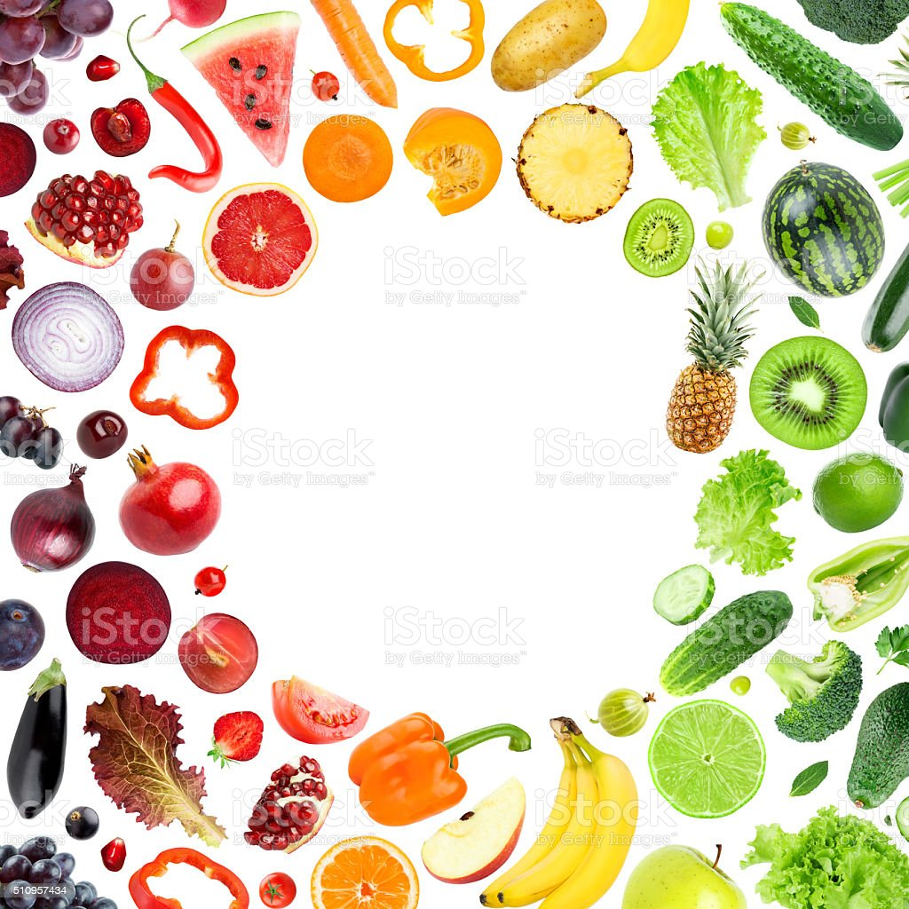 Fruits and vegetables concept stock photo