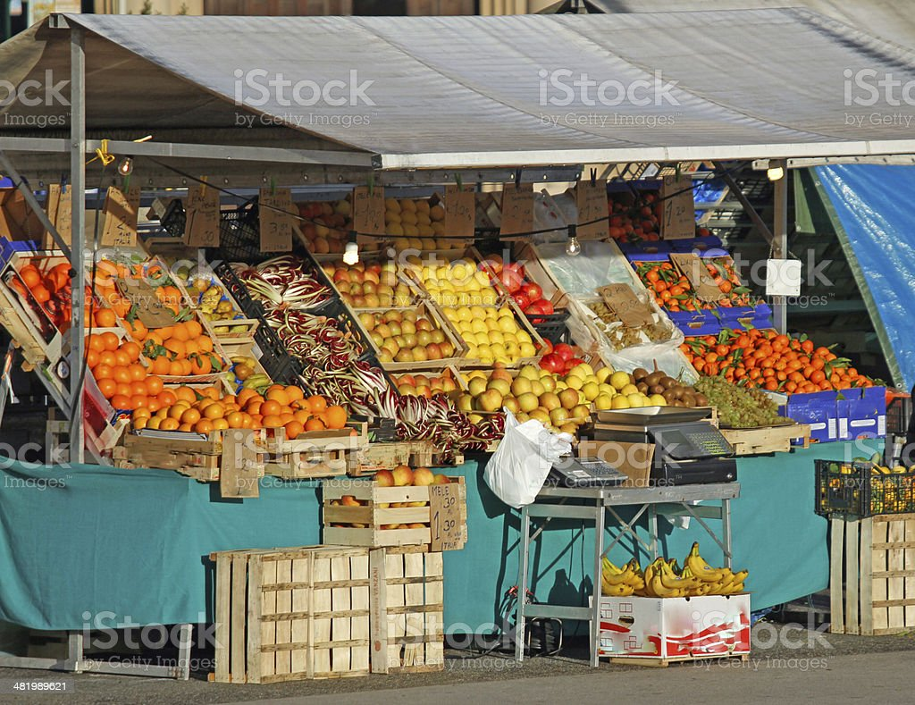 fruits and vegetables for sale in the fruit and vegetable stock photo