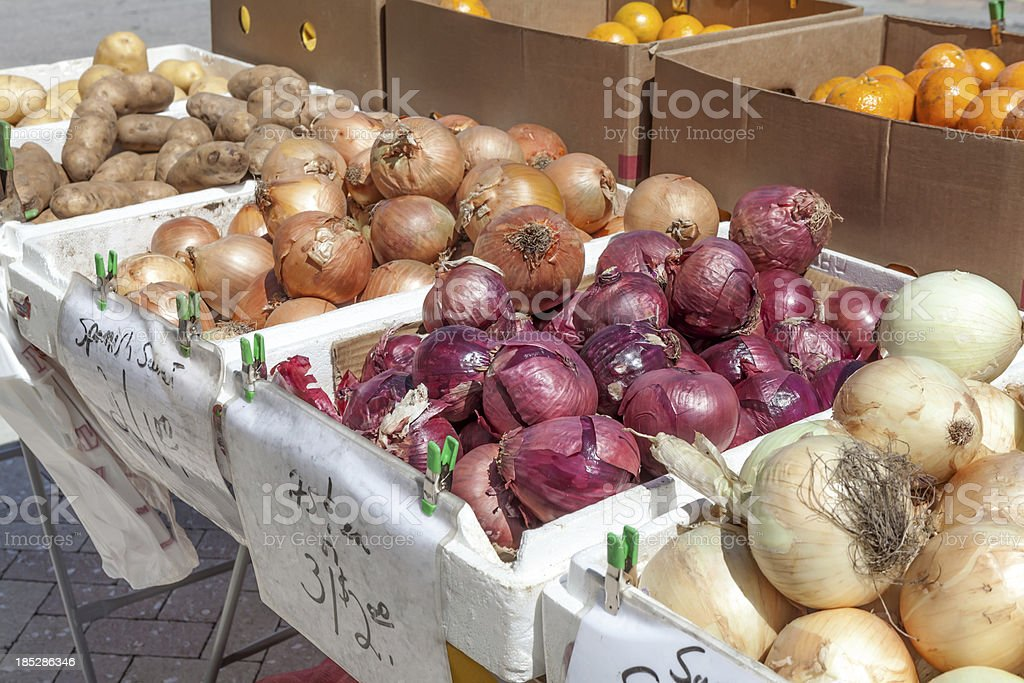 Fruits and Vegetables for sale royalty-free stock photo