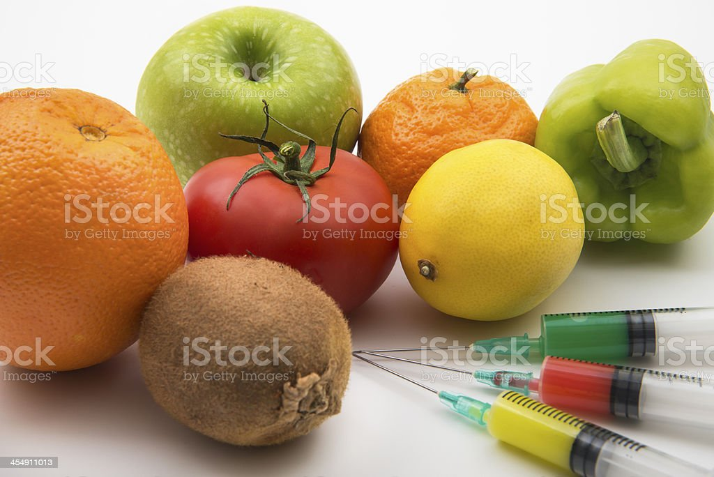 GMO Fruits And Vegetables royalty-free stock photo