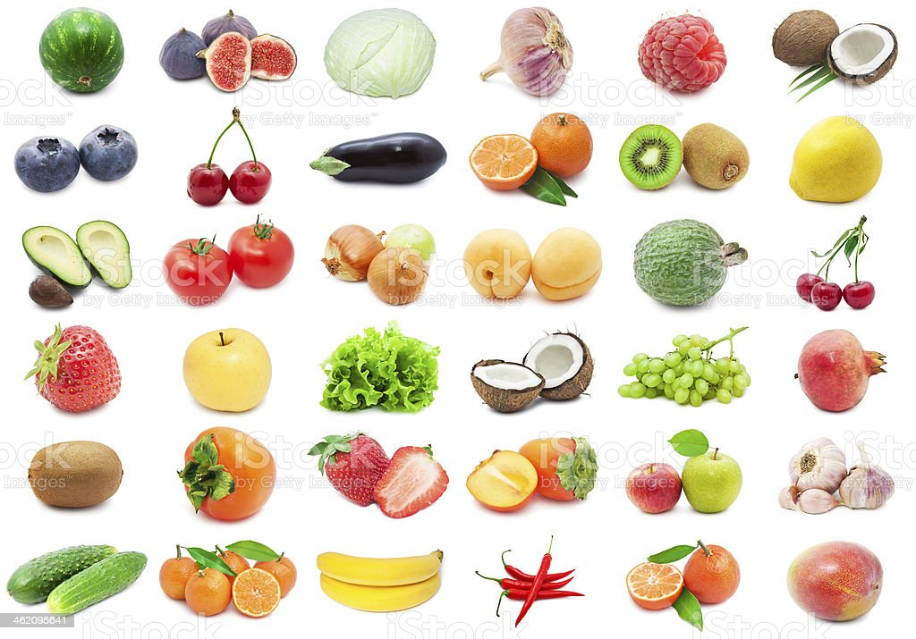 Fruits and Vegetables royalty-free stock photo