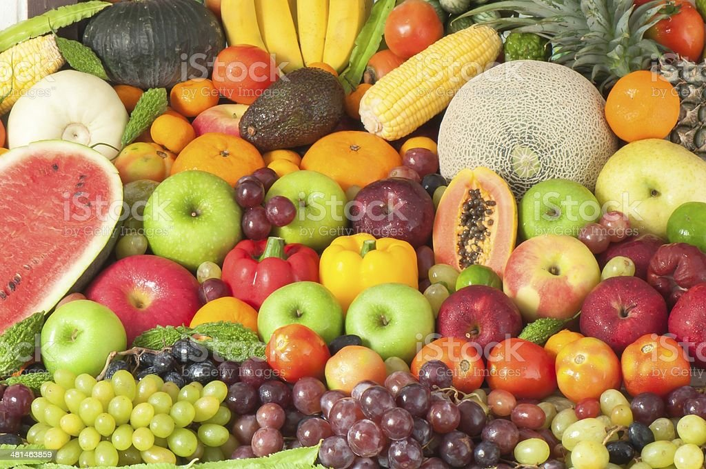 Fruits and vegetables. stock photo