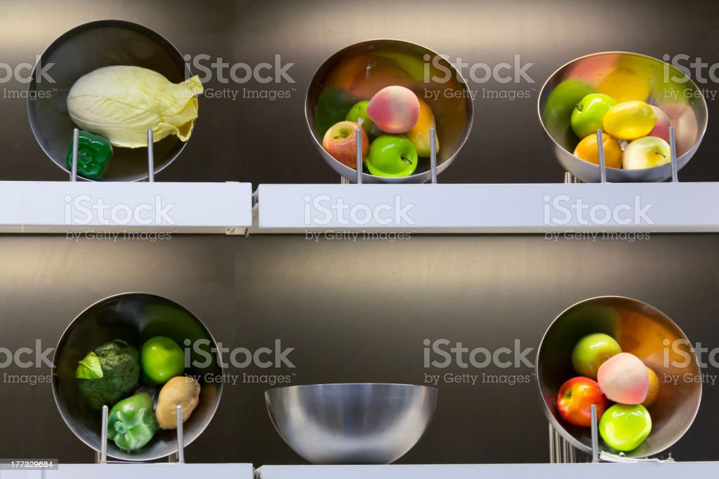 Fruits and vegetables showcase royalty-free stock photo