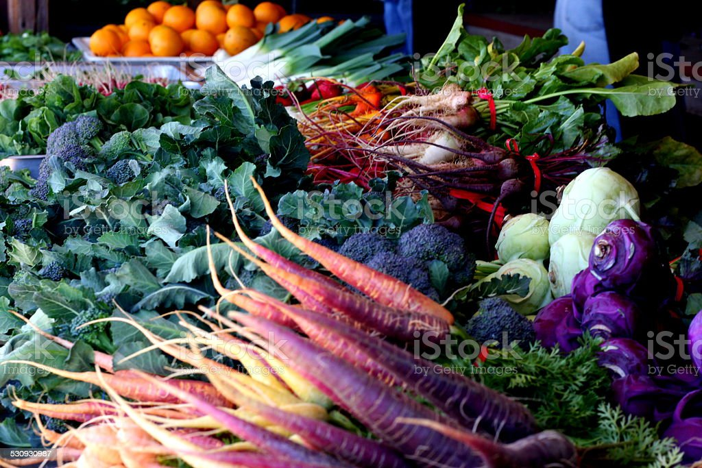 Fruits and Veggies at Farmer's Market stock photo
