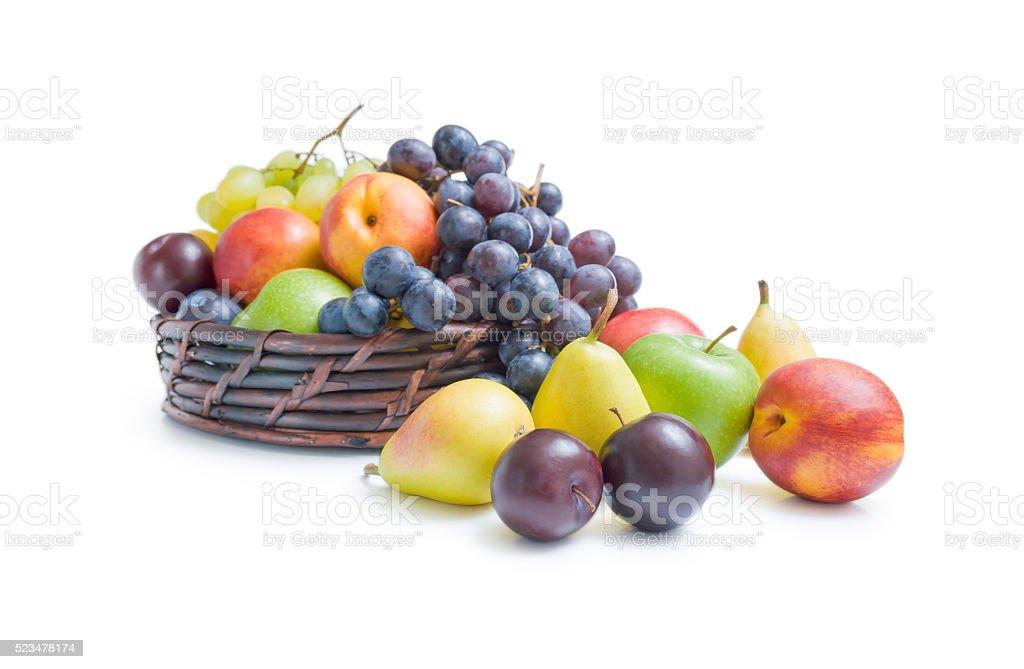 Fruits arrangement stock photo