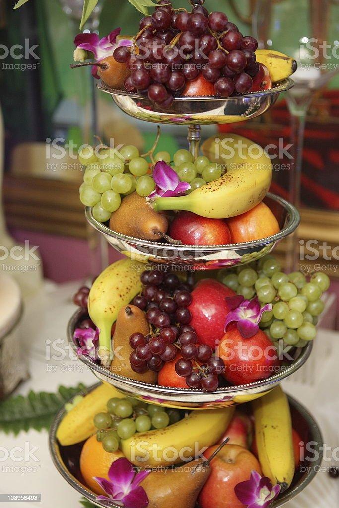 Fruits at Wedding Reception royalty-free stock photo