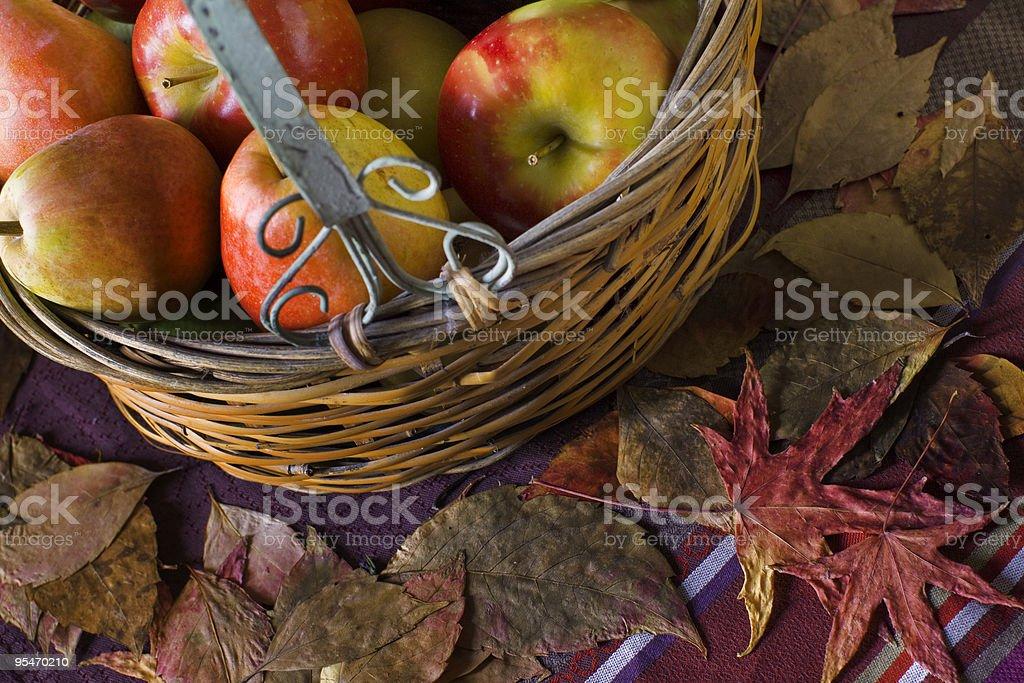 Fruits basket stock photo