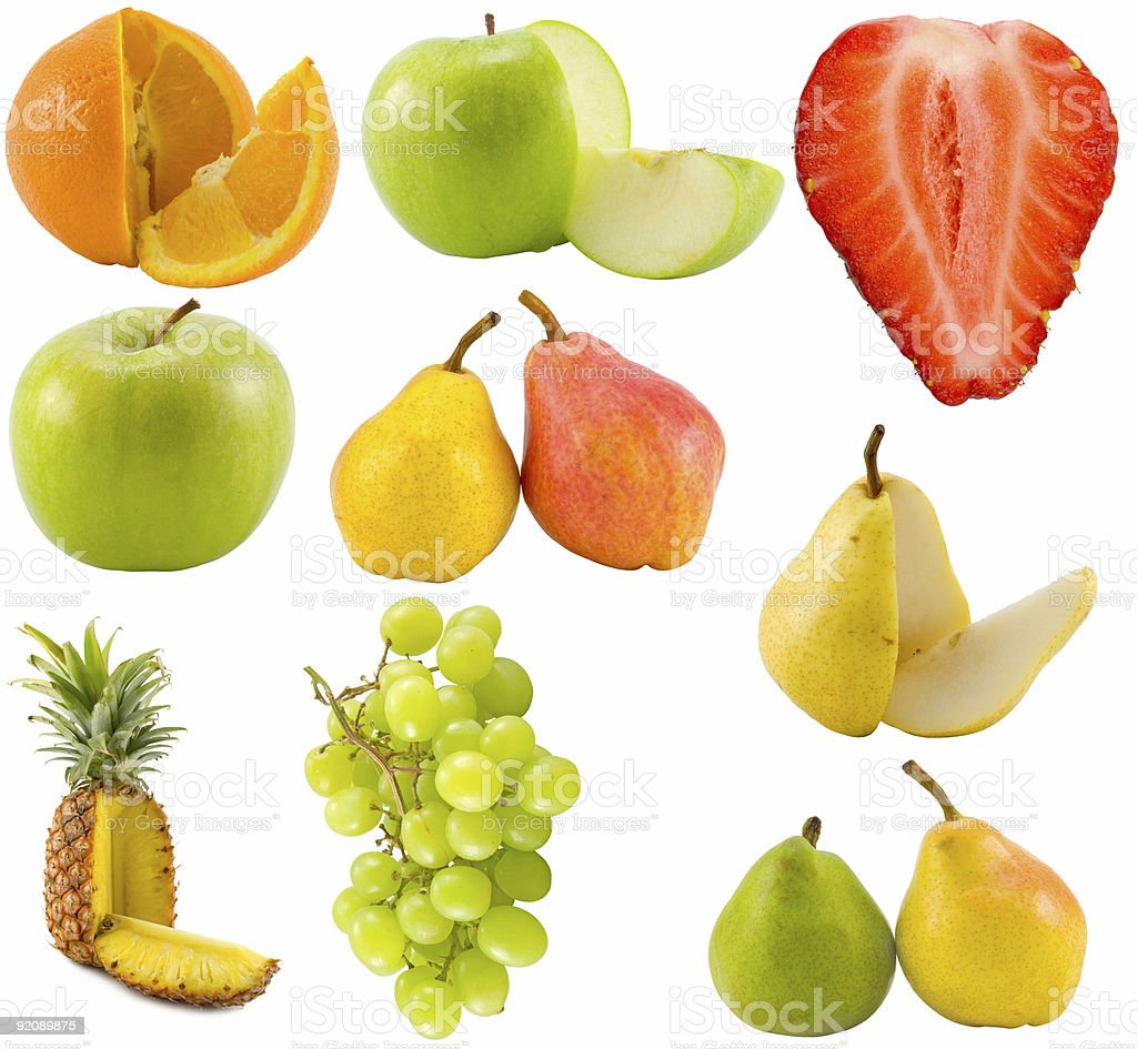 fruits collection royalty-free stock photo