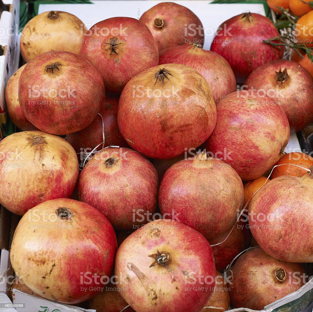 Fruits for sale on market stock photo