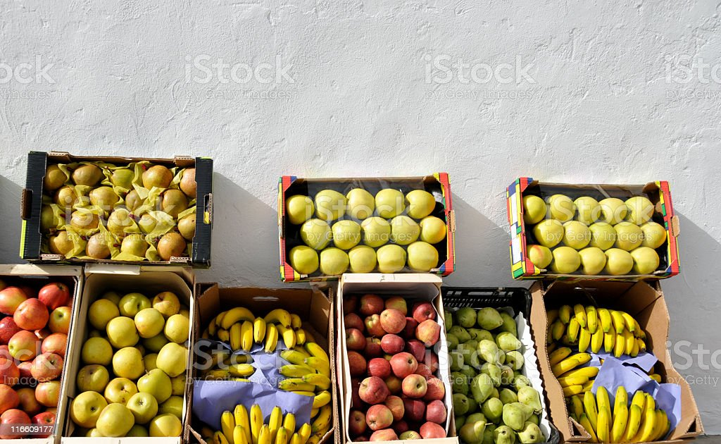 Fruits for sale royalty-free stock photo