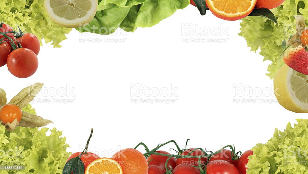 Fruits frame royalty-free stock photo